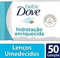 Lenços Umedecidos Hidratação Enriquecida, Dove Baby, Pacote de 50