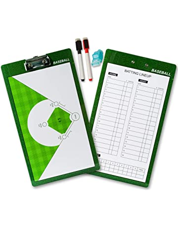 Shinestone Coaches Board, Coach Coaching Tactics Double Sided Premium Dry Erase Board Clipboard with Marker