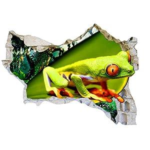 Tree Frog Jungle Rainforest Wall Sticker Bedroom 3D Kids Room Vinyl Sticker Living Room
