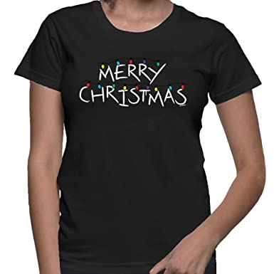 dba44408 Amazon.com: HAASE UNLIMITED Women's Merry Christmas T-Shirt: Clothing