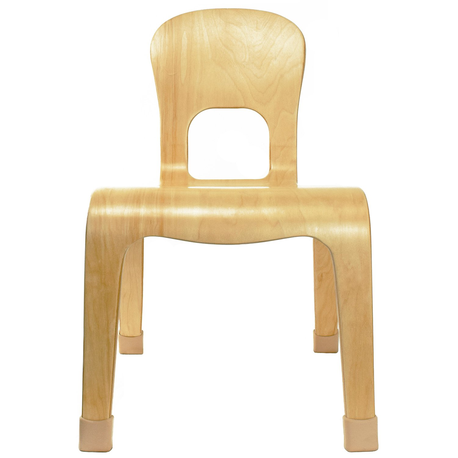 2xhome - Natural Wood - Kids Size Kids Chair Wood Modern Side Chair 10'' Seat Height Real Wooden Childs Chair Childrens Room School Chairs No Arm Arms Armless Molded Wooden Seat Stackable