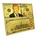 atsknsk New Arrival US 100 Trump Gold Foil Commemorative Collection
