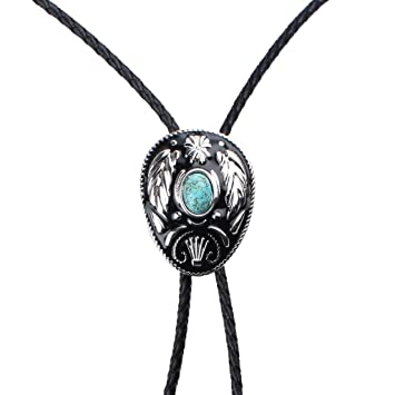 Gazechimp Corbata Bolo Accesorios para Traje Collar Esmalte Natural Turquesa Vintage Estilo Vaquero