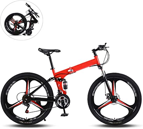Bicicletas De Montaña Plegables,26 Pulgadas Tres Ruedas De Corte ...