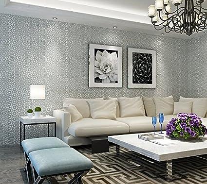 Moderno 3d Damascocon Relieve Papel Pintado Para Pared Mesita De