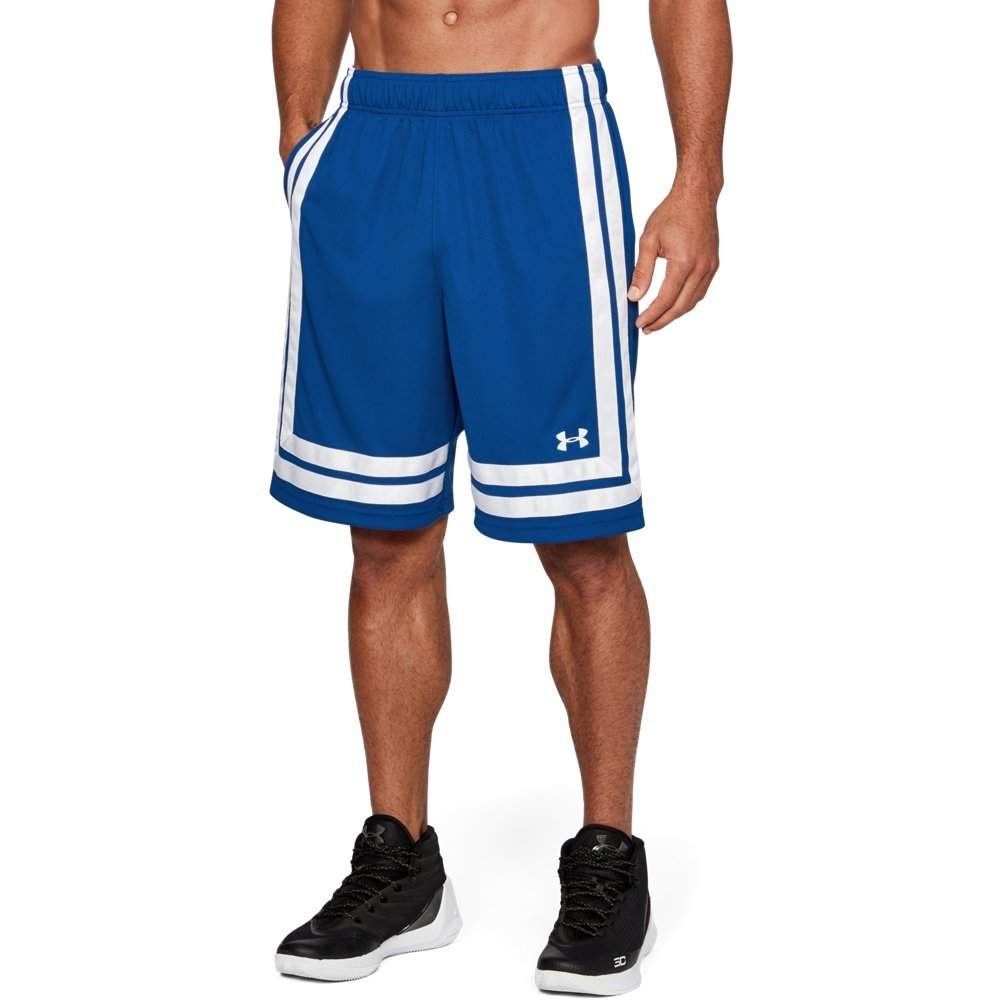 Under Armour Men's Baseline 10'' Shorts, Royal (400)/White, XXX-Large by Under Armour
