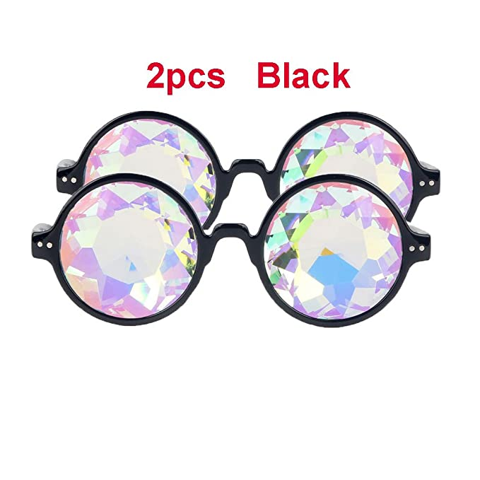 Amazon.com: 2pcs Crystal anteojos de lentes Caleidoscopio ...