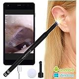 Plaisiureux 耳かき カメラ みみかき イヤースコープ マイクロスコープ 耳掃除 内視鏡 電子耳鏡 (ブラック)