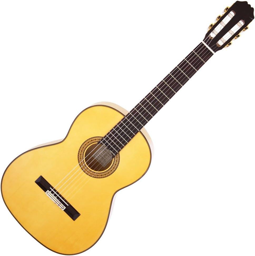 Aria ace-9 F Flamenco Guitarra Clásica con Solid Spruce, fabricado ...