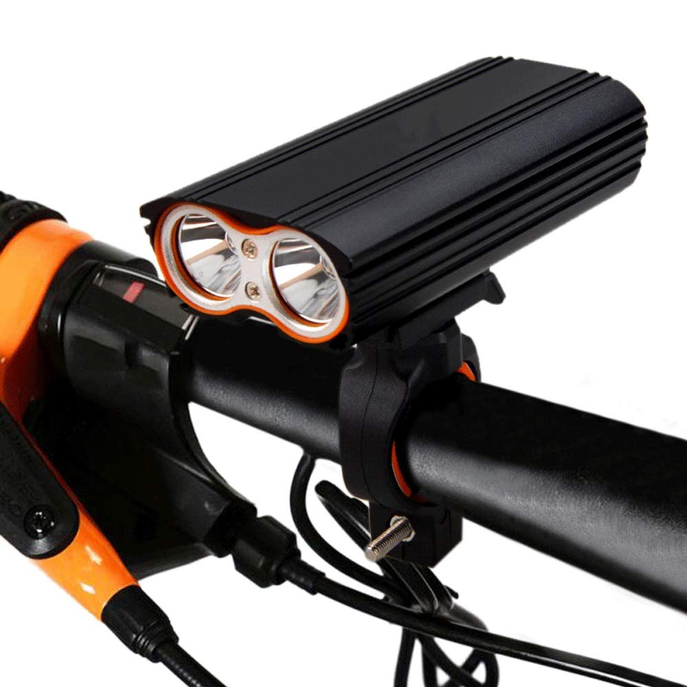 DFRgj Bike Light Waterproof Front Bicycle Light 2400 Lumens CREE XML-T6 LED Bicycle Light Set USB Rechargeable Bicycle Mountain Flashlight by DFRgj