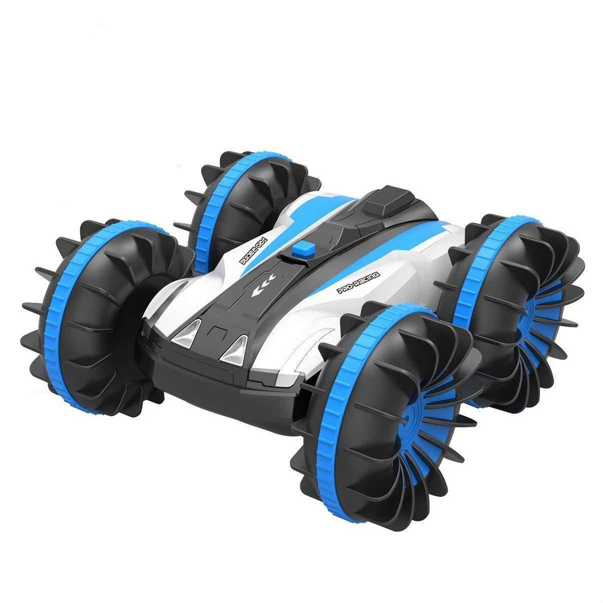 allcaca RC Stunt Car avec 360 ° de Rotation renversant 2.4 Ghz Tout Terrain Voitures de Course Double-côtés véhicule étanche pour Les Jouets pour Enfants