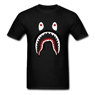 Wtfcute Bape Shark Mens Comfortable Dd Cat T Shirt Blackmedium