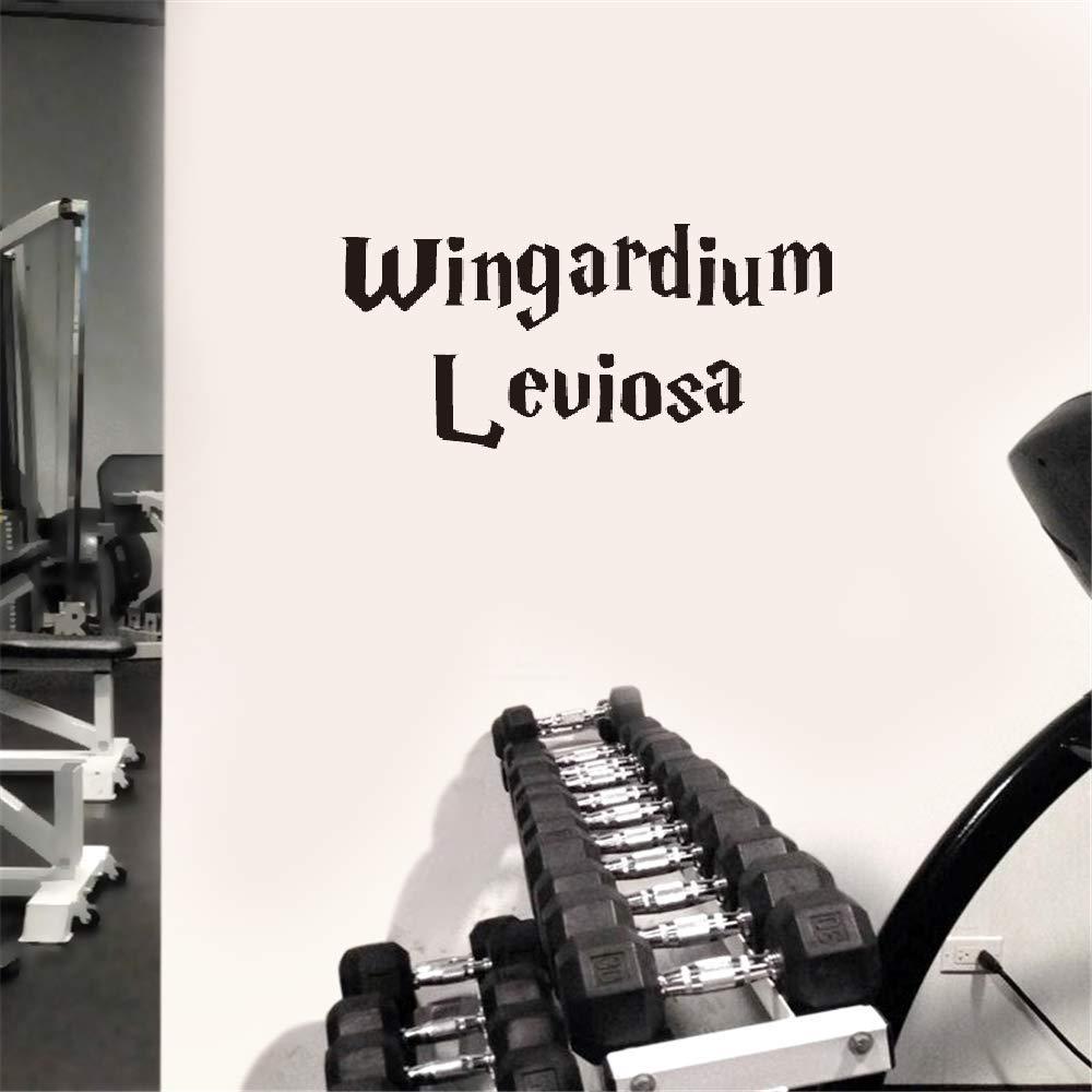 Vinly Art Decal Words Quotes Wingardium Leviosa for Car Laptop Window Sticker