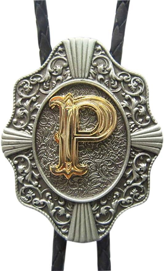 JEANS FRIEND Original Vintage Initial Letter J Leather Bolo Tie