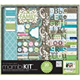 me & my BIG ideas Scrapbooking Box Kit, They'll Always Be My Family, 12-Inch by 12-Inch
