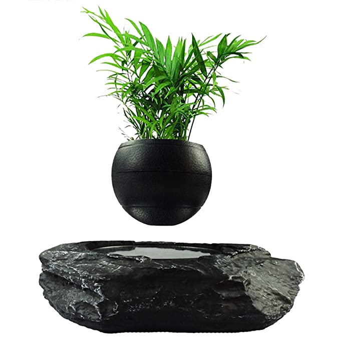 Magnetic Suspension Rotation Potted Ornaments Office Living Room Balcony Decoration Gift Gift Desktop Decoration Design (Color : Black, Size : 217 cm/83 inch)