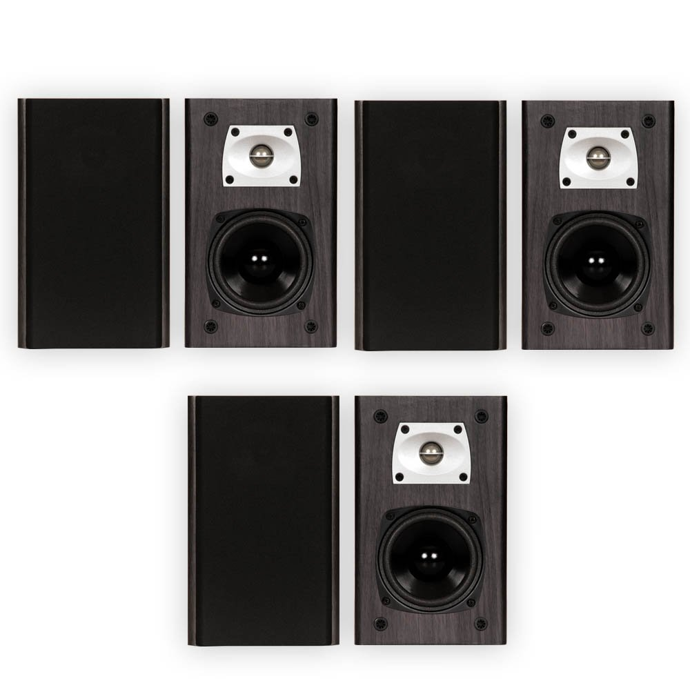 Theater Solutions B1 Black Bookshelf Speakers Surround Sound Home Theater Speaker 3 Pair Pack by Theater Solutions