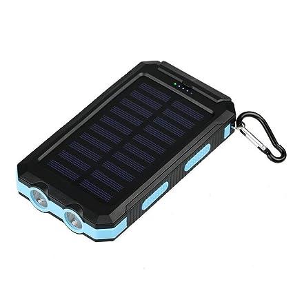 Amazon.com: Banco de energía solar portátil impermeable de ...