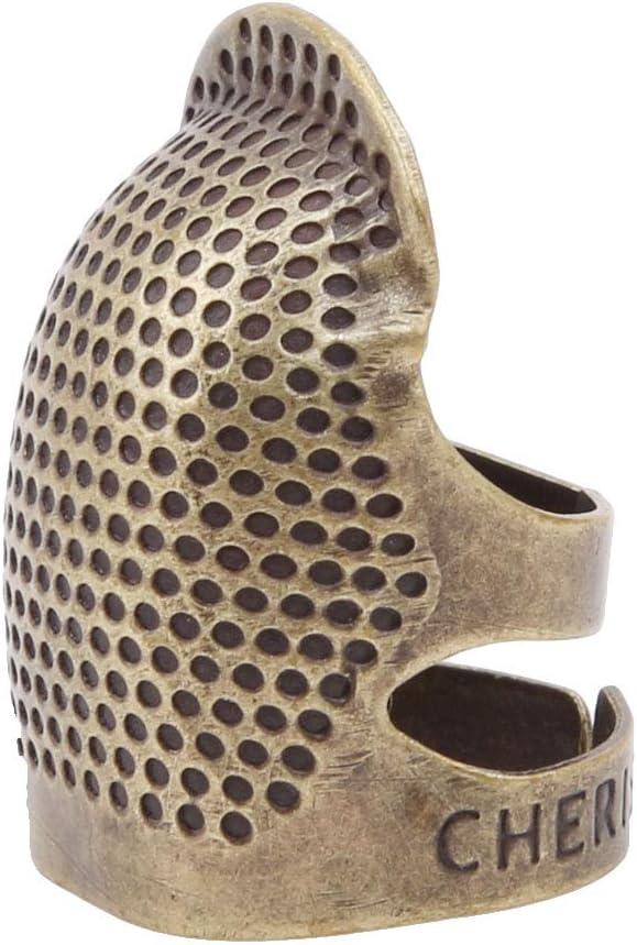 L Bigsweety Kit Doutils de Couture Quilting Thimble Cuivre R/églable Protecteur de Doigts