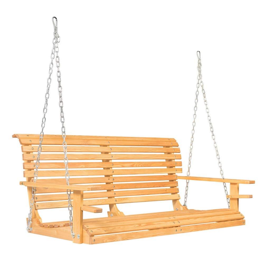 "Arin Shop Chair Garden Patio 5ft Porch Swing Chair Garden Patio Hanging Bench Courtyard Hammock w/Cup Holder 61"" x 20"" x 24.4"". Seat Area: 57.8"" x 17.7"""