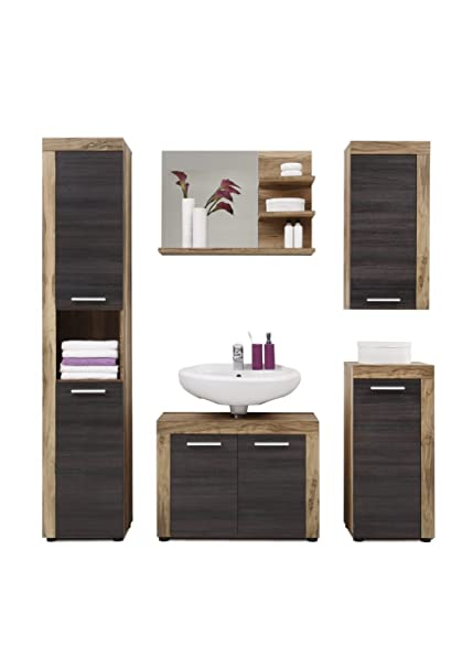 Elbectrade Mobile Bagno Sospeso Jazz Design Moderno Color Noce E