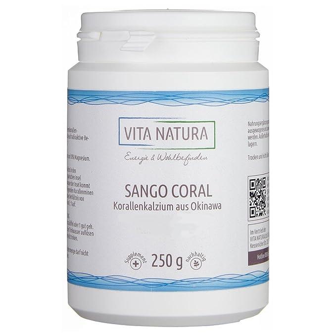Vita Natura, Calcio de Sango Coral en Polvo, Pack de 1 (1 x
