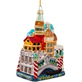 "Kurt Adler C7569 5"" Venice Cityscape Glass Ornament"