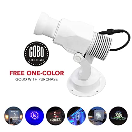 Instagobo LED Custom Image Gobo Logo Projector Light with Manual Zoom&Focus  Customized Gobos for Indoor Use Company Hotel Restaurant Advertising Signs