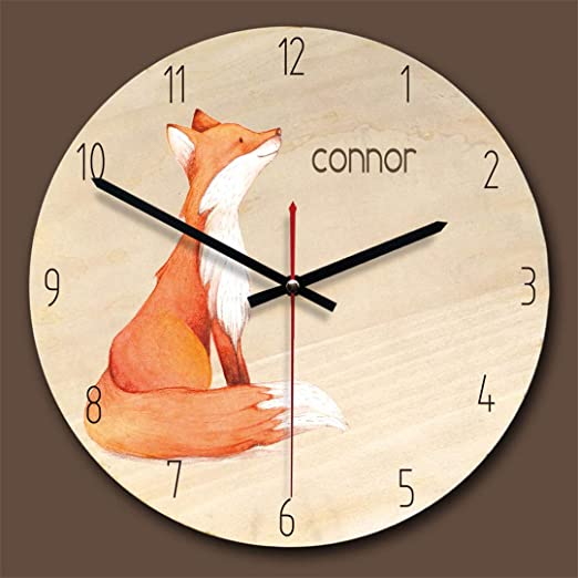 Amazon.com: SHFISIKI 11 Inch Home Decoration Wooden Wall Clock Bedroom Mute Clocks Cartoon Cute Wall Watch Reloj De Pared Decorativo White: Home & Kitchen