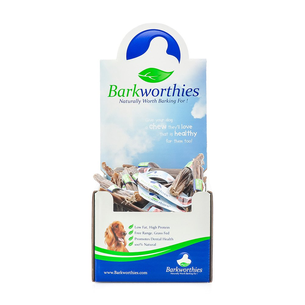 Barkworthies All Natural Braided Beef Gullet Chew Sticks Chewable Dog Treats 6