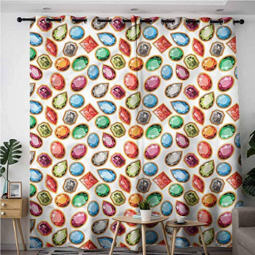 - BE.SUN Blackout Curtains,Diamond,Topaz Diamonds Art,Great for Living Rooms & Bedrooms,W120x96L