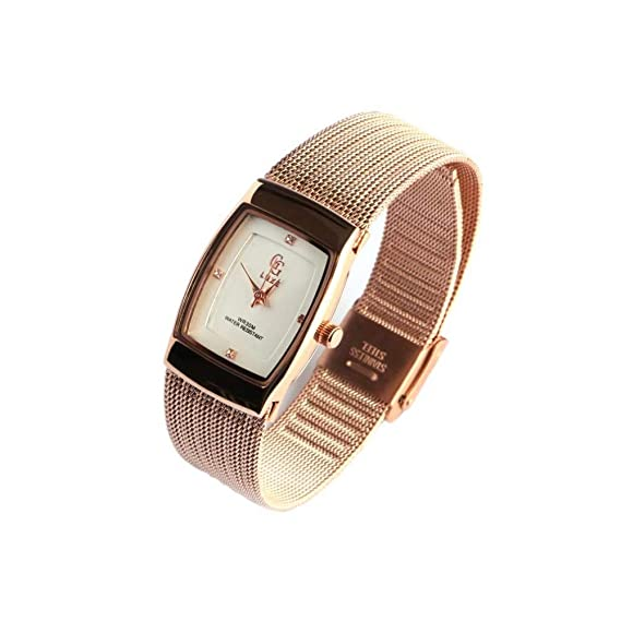 Fino Pulsera Reloj Mujer Dore Malla Milanaise subty GG Luxe – Mujer