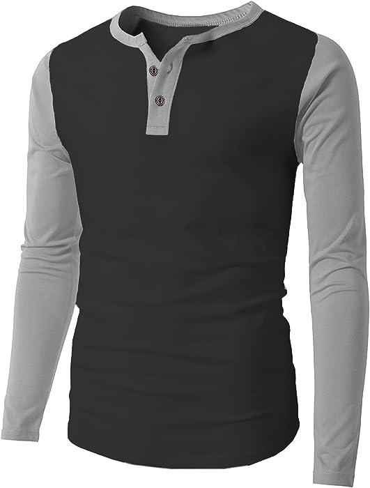 a9731ab0038 Clearance Sale! Men's Raglan Baseball Tee Shirts Slim Fit Long Sleeve  Casual Henley T-Shirt