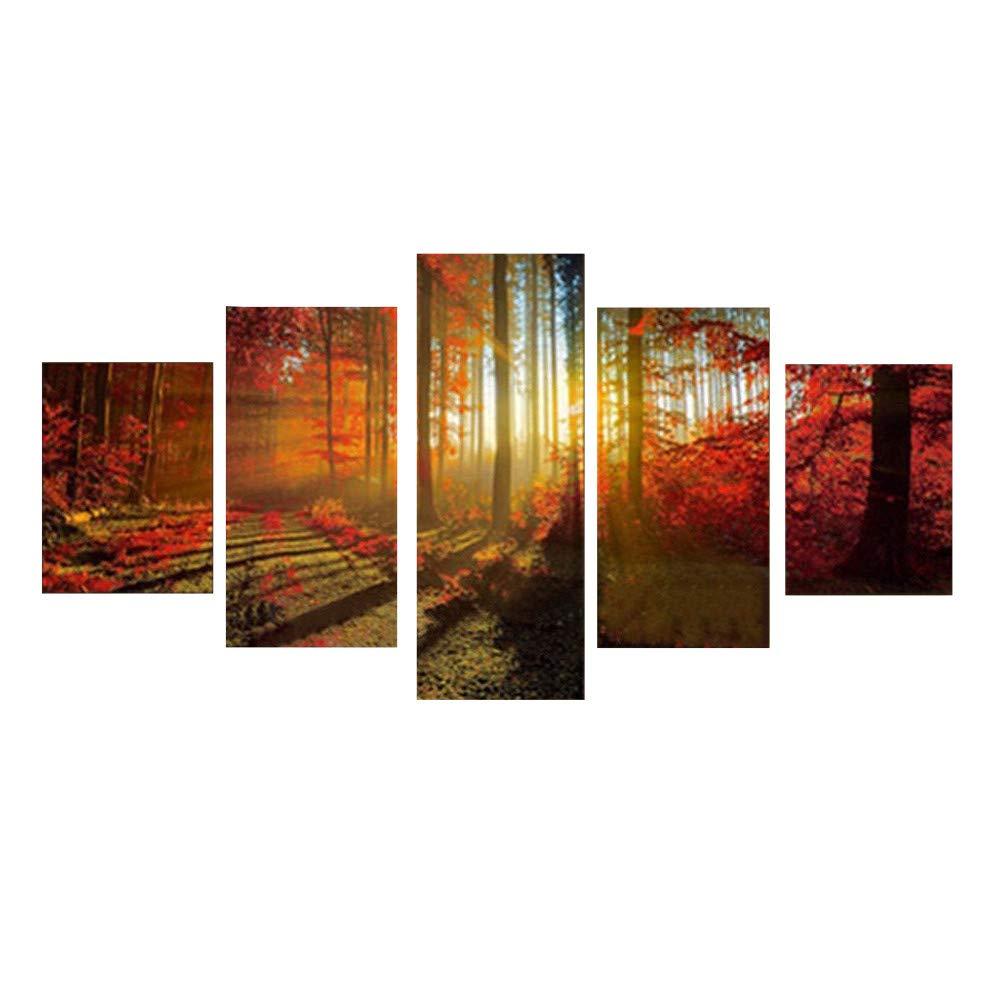 Amazon Com 5 Panels Canvas Print Paintings Home Art Wall