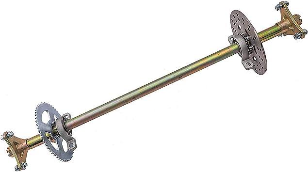 WPHMOTO Rear Axle Assembly Complete Wheel Hub Kit /& Brake Assembly for Go Kart Quad Trike Drift Bikes