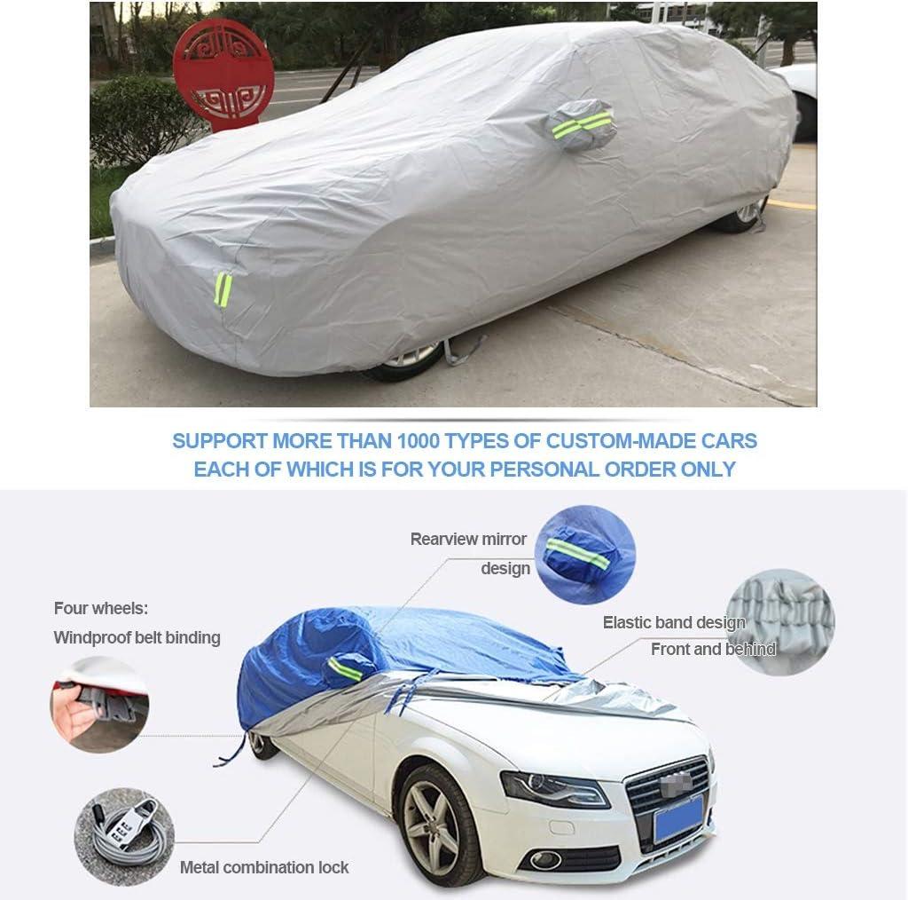 Fundas para Coche Car Cover Funciona con Nissan Tiida Car Cover.Totalmente Impermeable A Prueba De Ara/ñAzos Protector Solar A Prueba De Polvo Universal Duradero Transpirable