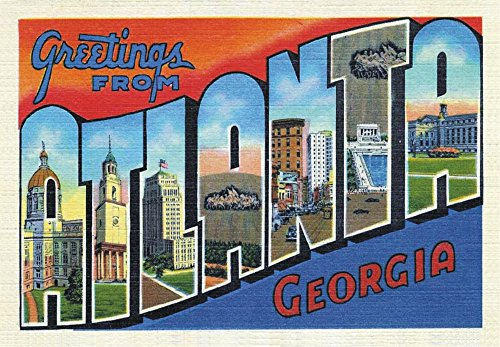 Greetings from Atlanta, Georgia, GA, US, Souvenir Magnet 2 x 3 Fridge Photo Magnet