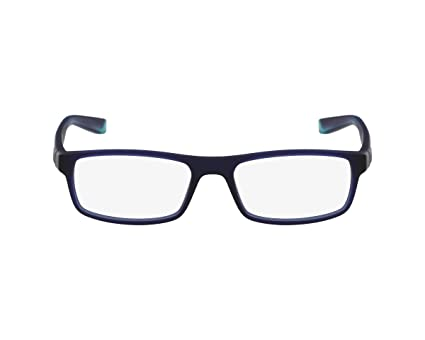 e9309ded5c04 Image Unavailable. Image not available for. Color  Eyeglasses NIKE 7090 411  MATTE NAVY PHOTO BLUE