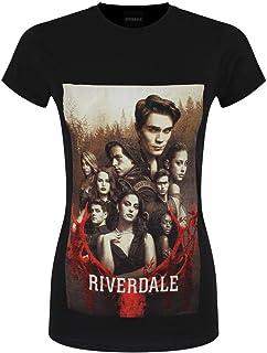 Riverdale T-Shirt Cast Shot da Donna in Nero