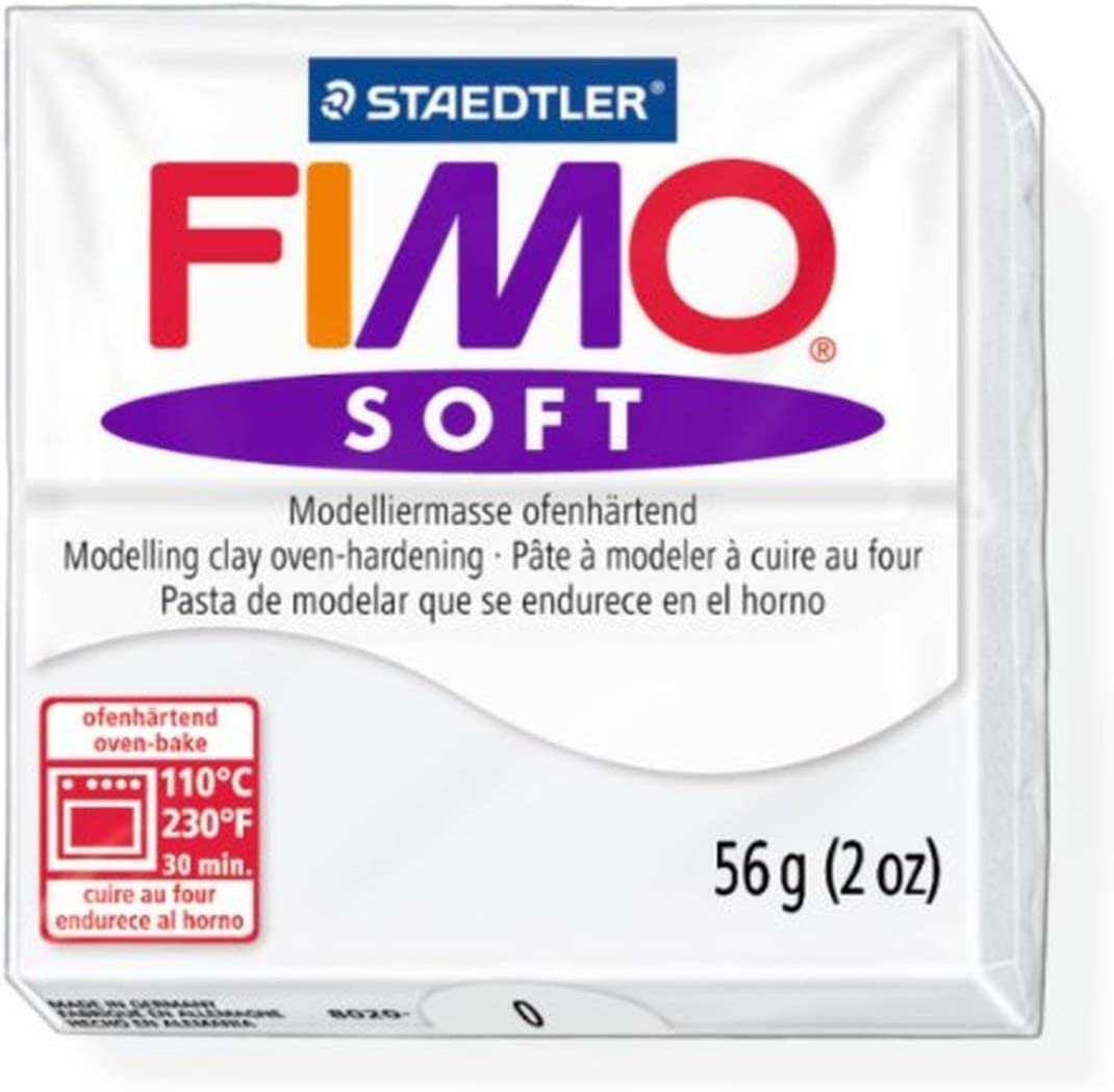 Oven Bake Modelling Clay Mould Block 56g 53 Staedtler Fimo Soft Tropical Green