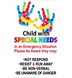 Special Needs Sticker Car Safety Decal for Child in Vehicle Car Truck Van SUV Custom Die Cut