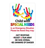 Special Needs Sticker Car Safety Decal for Child in