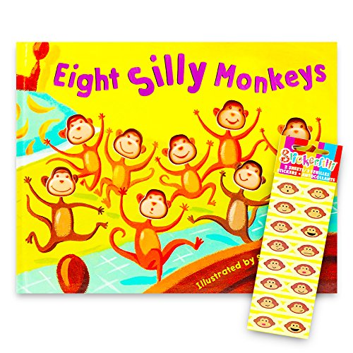 Eight Silly Monkeys Book Set For Kids Toddlers with ()