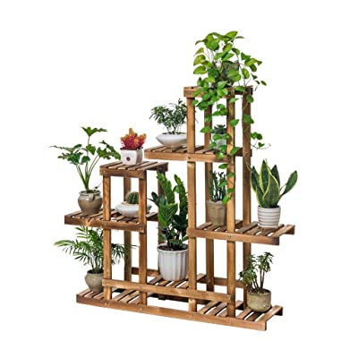 Pergolas Flower Stand Flower Stand Floor Solid Wood Flower Stand Balcony Pot Rack Multi-Layer Flower Stand Living Room Potted Flower Stand Balcony Flower Rack (Color : Brown, Size : 10125110cm): Garden & Outdoor