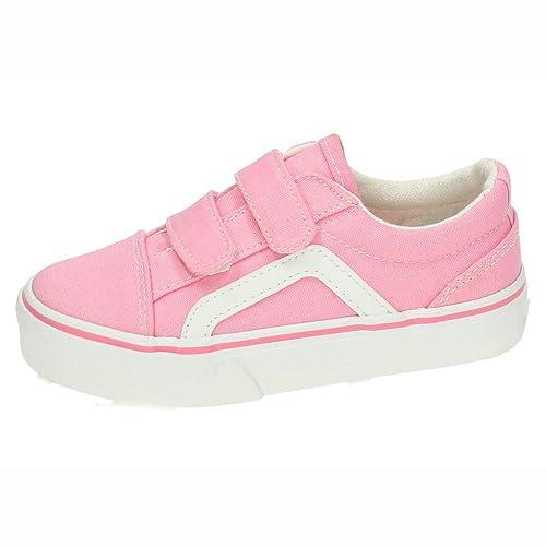 DEMAX A1900D-12 Tenis DE Lona Rosas NIÑA Zapatillas: Amazon.es: Zapatos y complementos