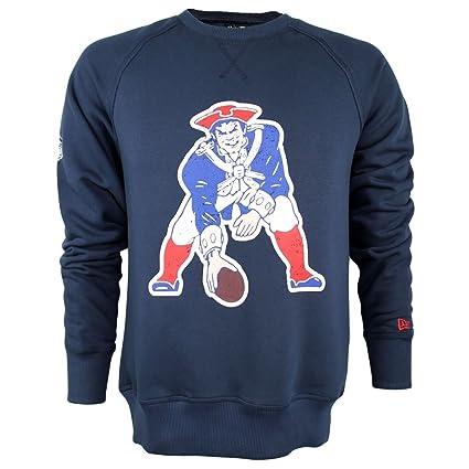NEW ERA New England Patriots Vintage Logo Crew esquina NFL Sudadera Marina, azul marino