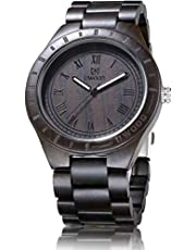 Wood Watches For Men,UWOOD Lightweight Natural Wood Watch 47.5mm Vintage Wood Watch Quartz Movement …