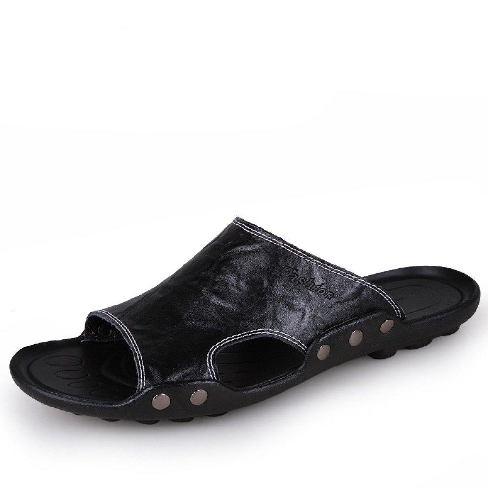 Noir LYZGF Pantoufles De Plage pour Hommes Occasionnels Casual Open-Toe Fashion Beach Slip 40 EU