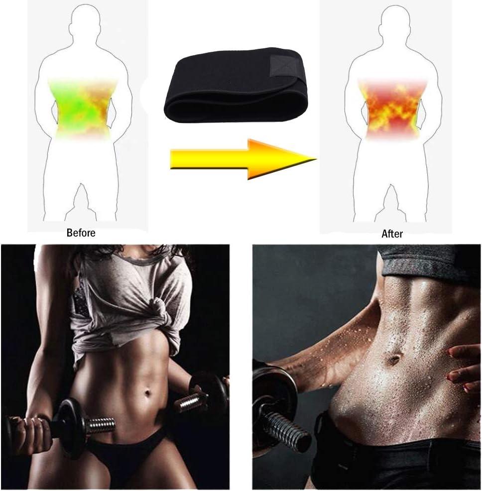Soporte para la M/úsculos Abdominal y Espalda Baja Efecto Sauna FeiLuo Faja Reductora Adelgazante Cintur/ón de Fitness Ajustable para Mujer /& Hombre para Body Shaped Quema de Grasas