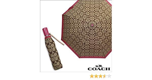 Amazon.com: COACH Signature Print Compact Folding Umbrella F63364: Garden & Outdoor